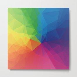 Rainbow Geometric Shapes Metal Print