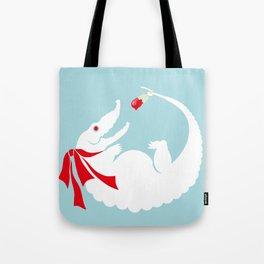 White alligator Tote Bag