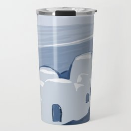 Labyrinth on the Shore, Sketch, Cyanotype Travel Mug