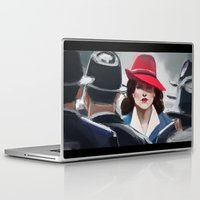 peggy carter Laptop & iPad Skins featuring Agent Carter by IVIDraws