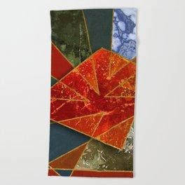Abstract #330 Beach Towel