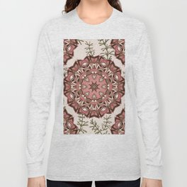 Boho Floral Mandela Pattern Long Sleeve T-shirt