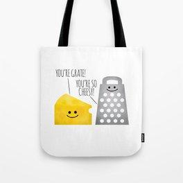 Cheesy Couple Tote Bag