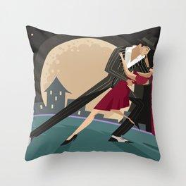 tango couple dancers Throw Pillow