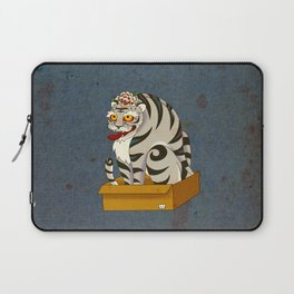 Minhwa: Big Happy Cat D Type (Korean traditional/folk art) Laptop Sleeve