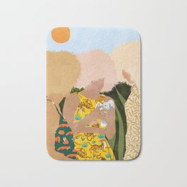 Nature Lovers #illustration #painting Bath Mat