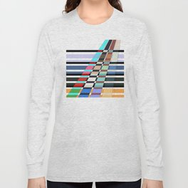 Colorful oblique lines . Abstract pattern 2 . Long Sleeve T-shirt