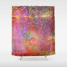 Boho Rose Shower Curtain