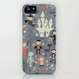Love shack monsters halloween party iPhone Case