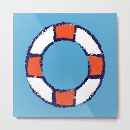 lifeguard buoy blue #nauticaldecor Metal Print