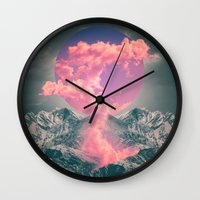 soul Wall Clocks featuring Ruptured Soul  by soaring anchor designs