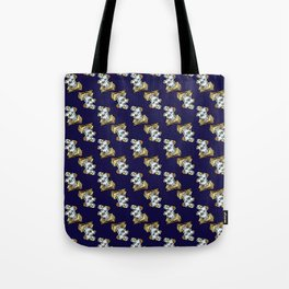 Magic Spellbook on Raven Navy Blue for Witch and Wizard School Tote Bag