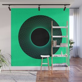 Vortex Green Modern Circular Pattern Design Wall Mural