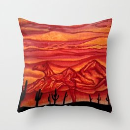 Camelback Mountain Phoenix, AZ Throw Pillow