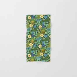 Tropical Blue and Yellow Floral Hand & Bath Towel