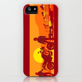 Bikers sunset pause iPhone Case