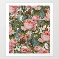 Floral roses pattern Art Print
