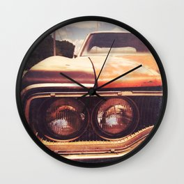Rusty And Blue - America As Album Art Wall Clock