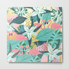 Flamingo Tropical #society6 #decor #buyart Metal Print