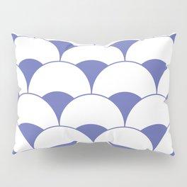 Art Deco Scales Blue Pillow Sham