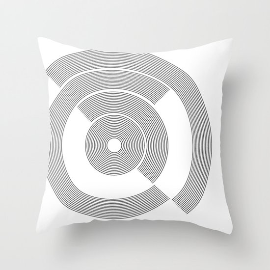 circle pattern 01 Throw Pillow