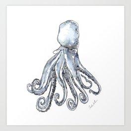 Octopus Watercolor Sketch Kunstdrucke