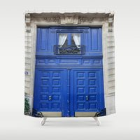 door Shower Curtains featuring Door by LeicaCologne Germany
