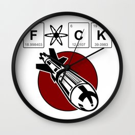 Fuck atomic bomb Wall Clock