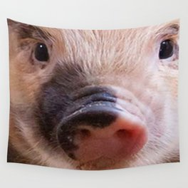 Sweet piglet Wall Tapestry