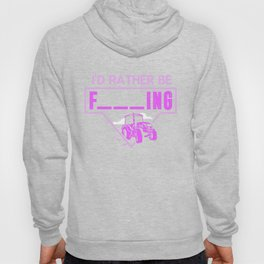 Mens I'd Rather Be Farming Tractor Design For A Hobby Farmer print Hoody