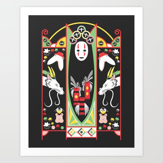 Spirited Deco Art Print