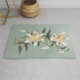 Golden Rayed Lily Rug