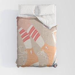 Roller skate girl 004 Comforters