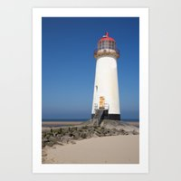Talacre lighthouse.  Art Print