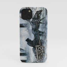 Grim Reaper with Horse in the Woods iPhone Case