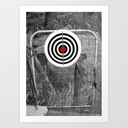 TARGET LOVE Art Print