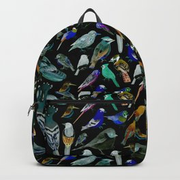 American Birds on charcoal painting Backpack