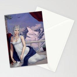 winter princess Stationery Cards