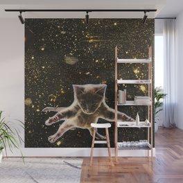 Kitten. In. Space. Wall Mural