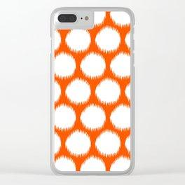 Vermillion Asian Moods Ikat Dots Clear iPhone Case