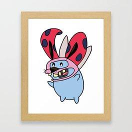 Catbug Courage Framed Art Print