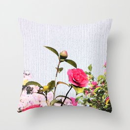 Surrendering to the beauty Throw Pillow
