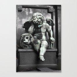 Cherub With Skull Canvas Print