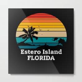 Estero Island FLORIDA Metal Print