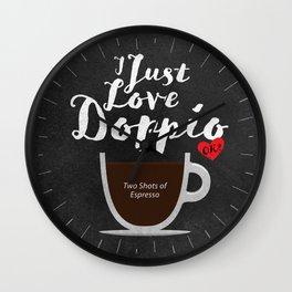 Coffee Lovers Wall Clock