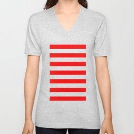 red stripes Unisex V-Neck
