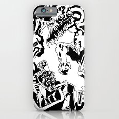 Doktor Steampug- Black and White iPhone 6s Slim Case