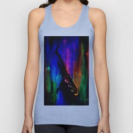 Midnight Sax Unisex Tank Top