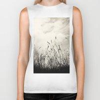 grass Biker Tanks featuring Grass by Angela Fanton