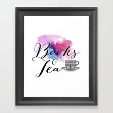 Books & Tea Framed Art Print